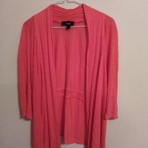AGB Coral Colored Cardigan Size Medium